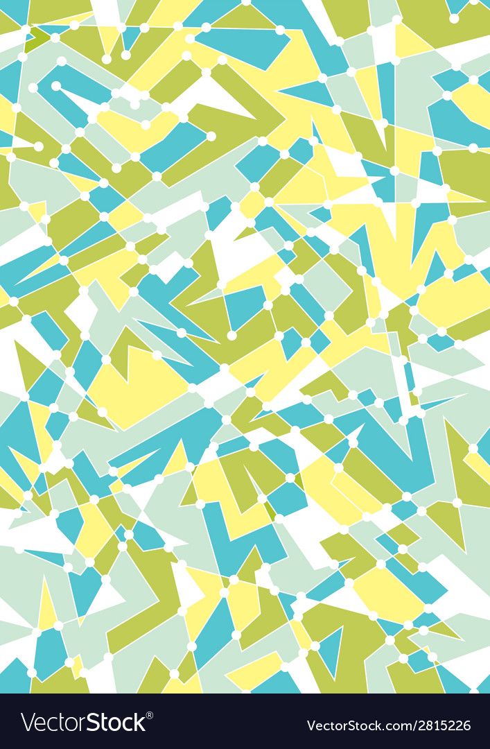 Seamless geometric pattern with polygon shapes vector | Price: 1 Credit (USD $1)