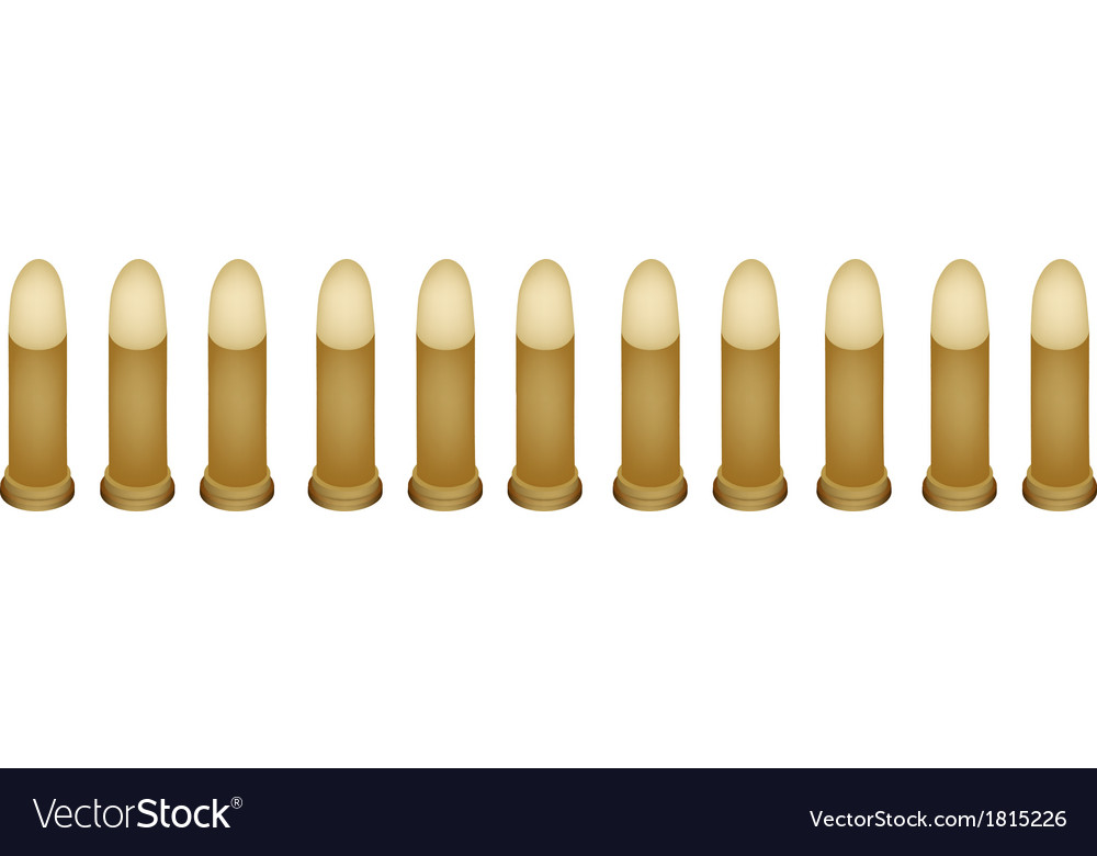 Set of gun bullets on white background vector | Price: 1 Credit (USD $1)