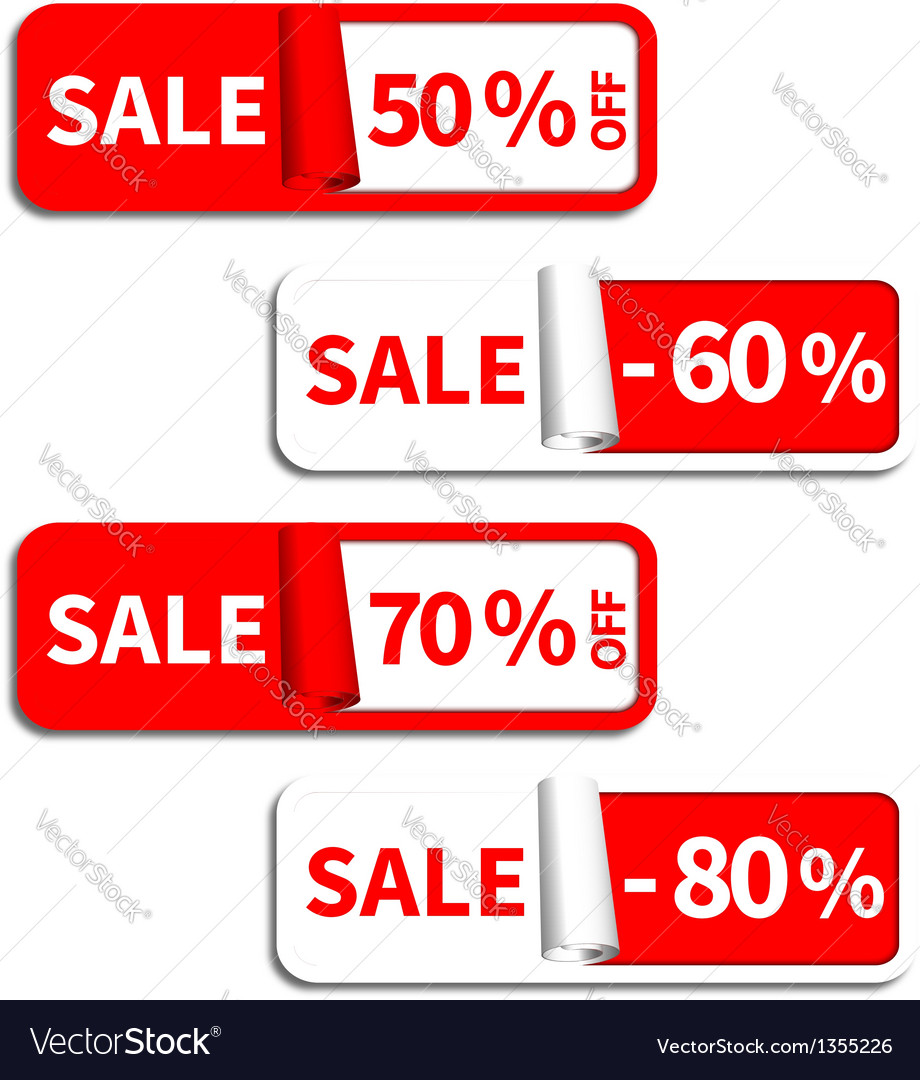 Set of sale sticker or label vector | Price: 1 Credit (USD $1)