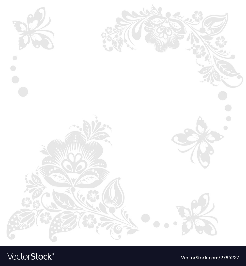 Abstract floral background with butterflies vector | Price: 1 Credit (USD $1)