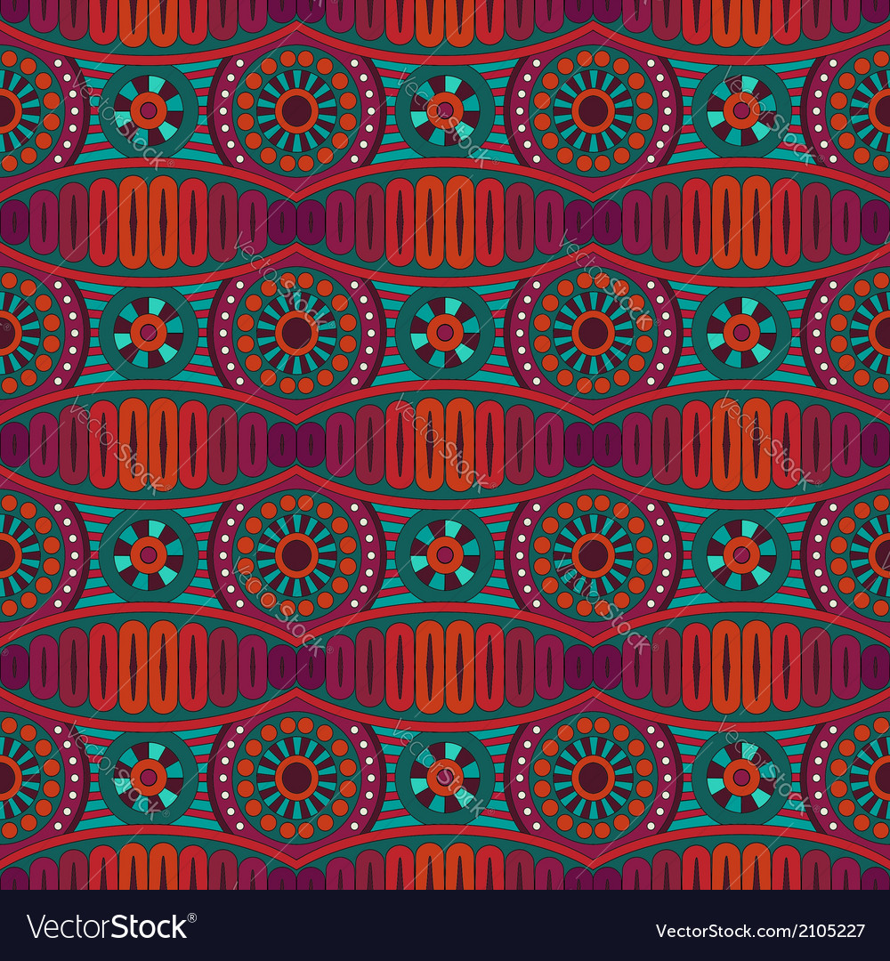 Abstract ornamental ethnic seamless pattern vector | Price: 1 Credit (USD $1)