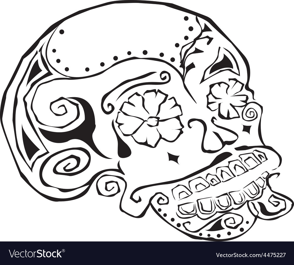 Artistic skull design vector | Price: 1 Credit (USD $1)