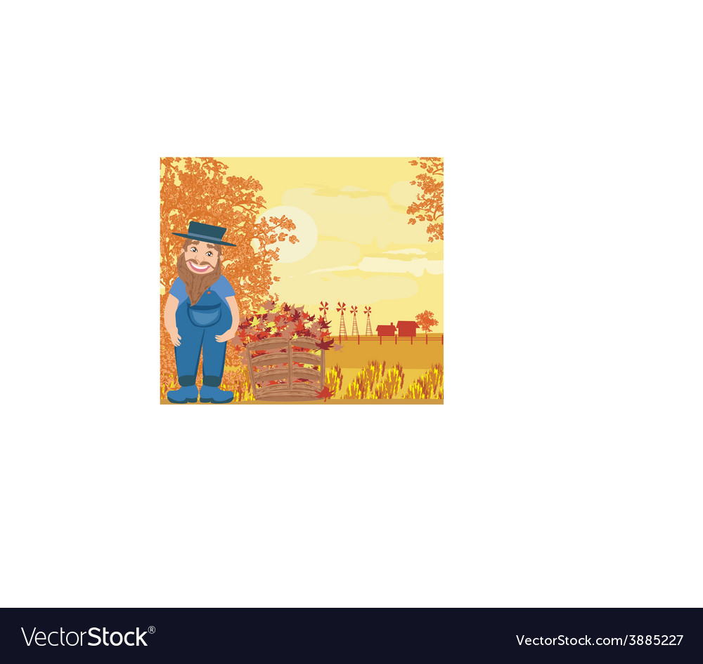 Autumn cleanup vector | Price: 1 Credit (USD $1)