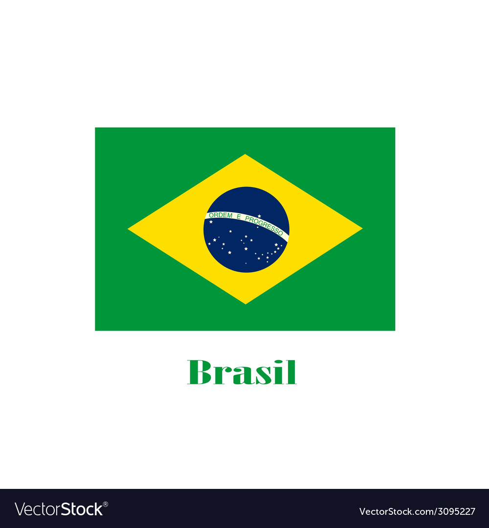 Brasil flag color vector | Price: 1 Credit (USD $1)