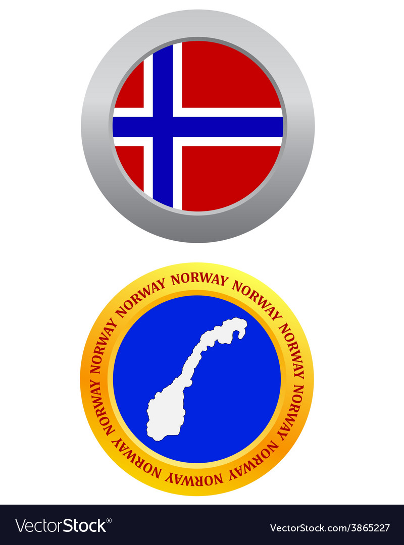 Button as a symbol norway vector | Price: 1 Credit (USD $1)