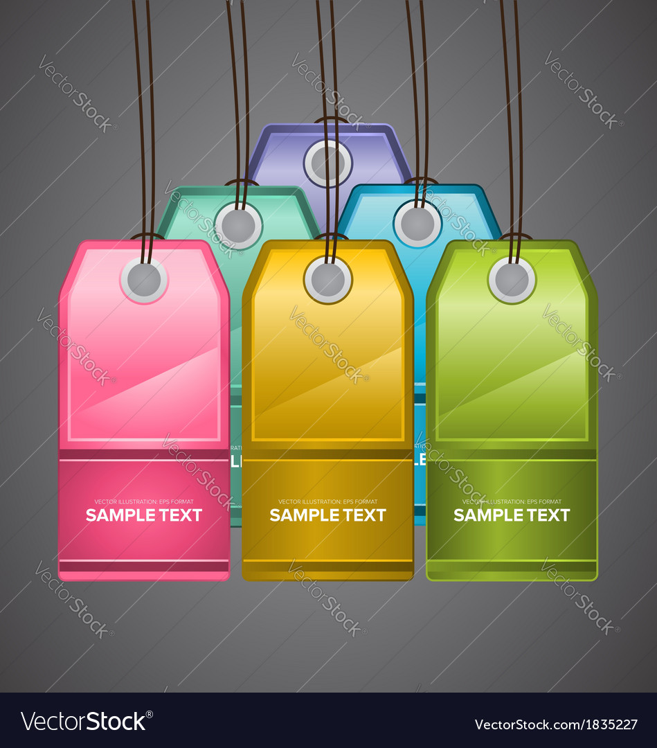 Colourful price tags vector | Price: 1 Credit (USD $1)