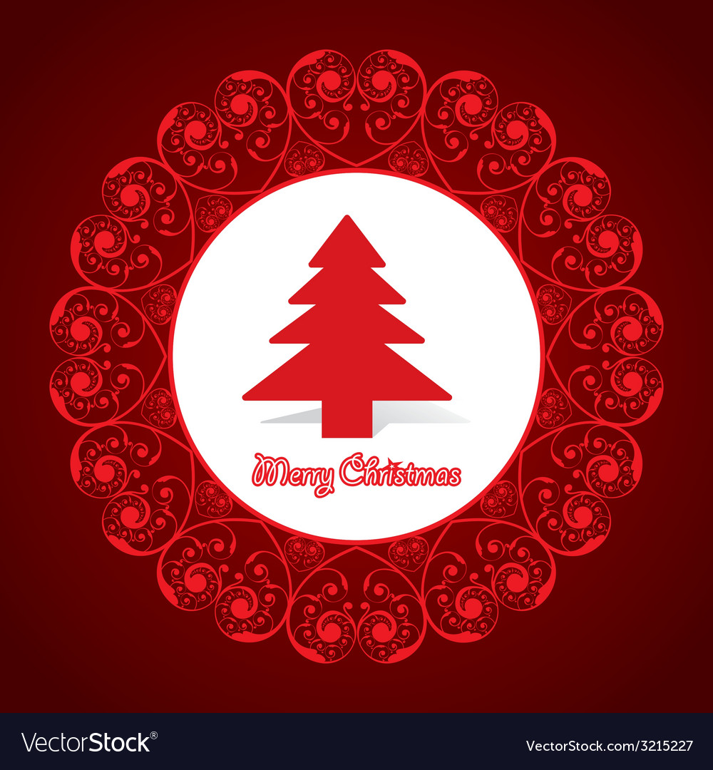 Creative greeting card for marry christmas vector | Price: 1 Credit (USD $1)