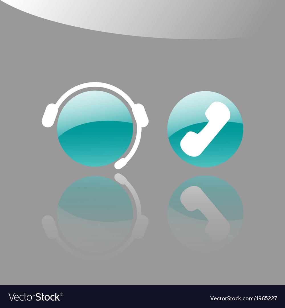 Customer support icons vector | Price: 1 Credit (USD $1)