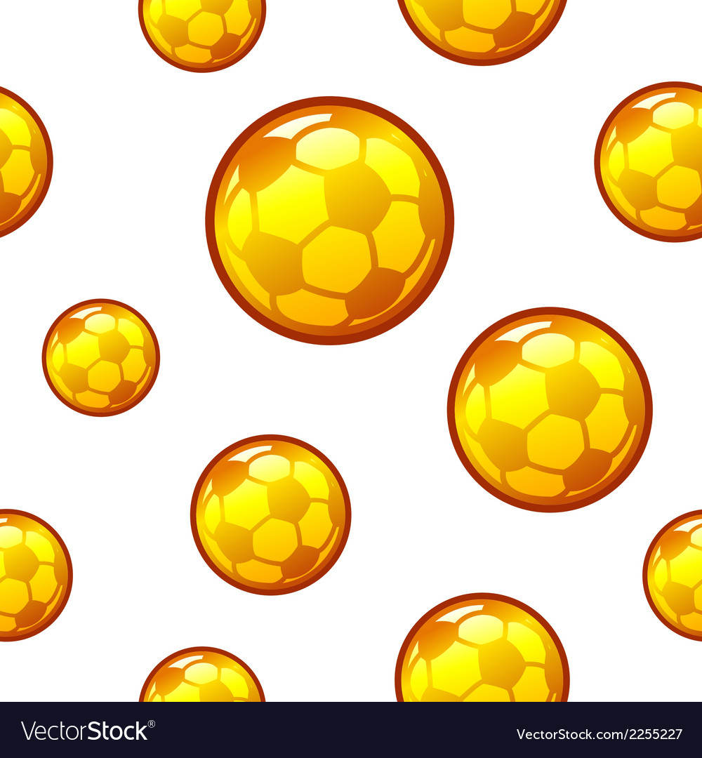 Gold football soccer seamless background vector | Price: 1 Credit (USD $1)