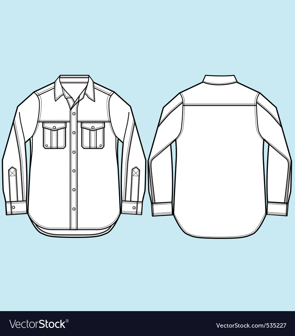 Men formal shirt design vector | Price: 1 Credit (USD $1)