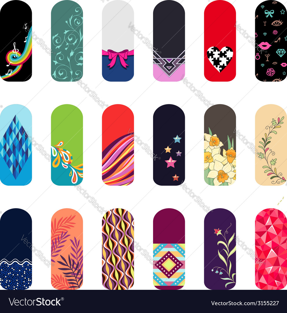 Nail art ornament set vector | Price: 1 Credit (USD $1)