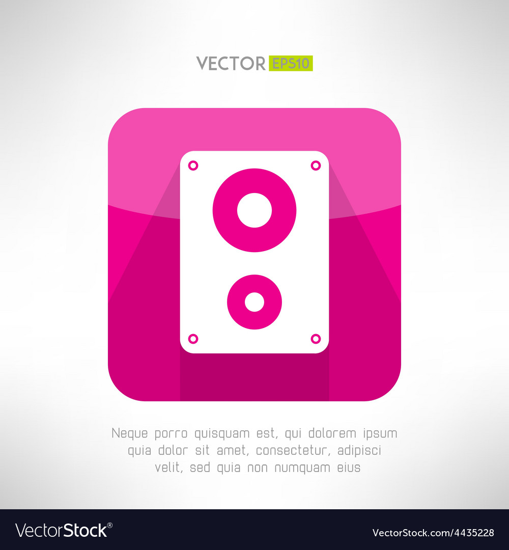 Audio system icon in modern flat design clean and vector | Price: 1 Credit (USD $1)