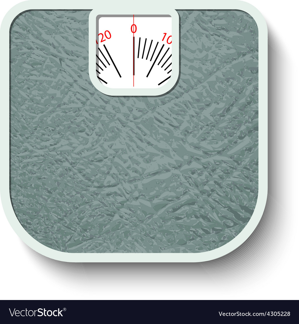 Bathroom wheight scales vector | Price: 1 Credit (USD $1)