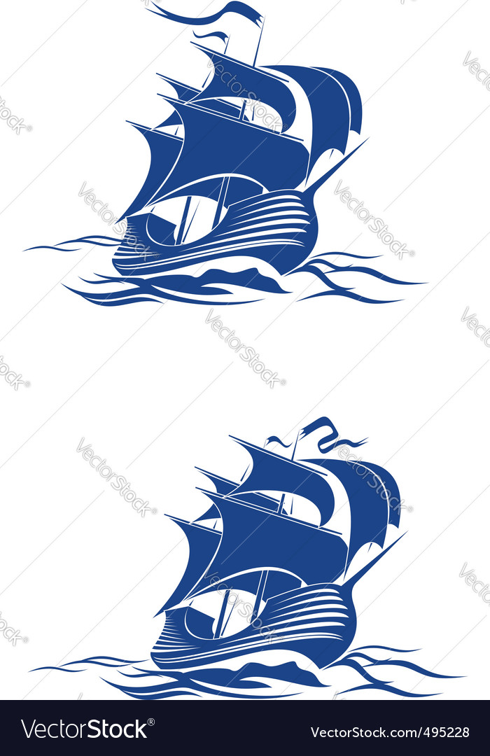 Brigantine ship vector | Price: 1 Credit (USD $1)