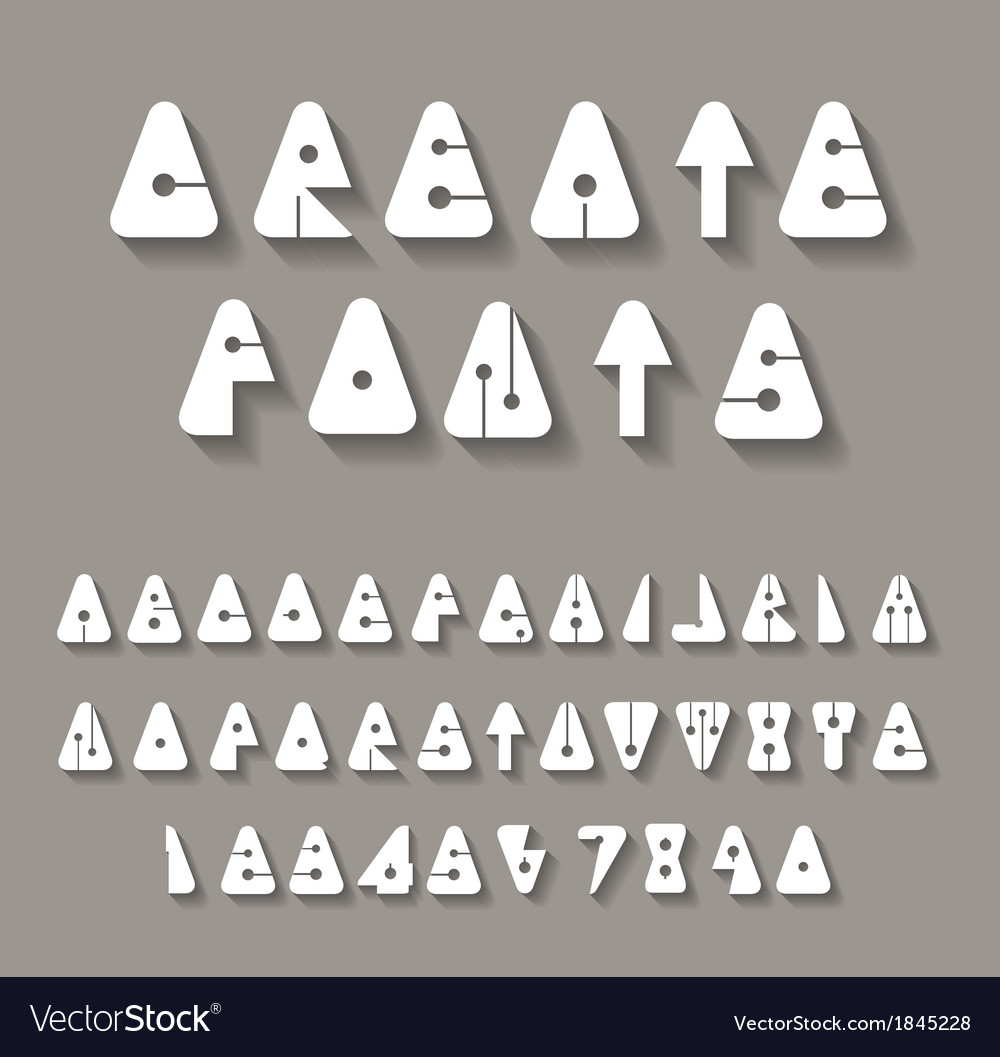 Creative alphabets vector | Price: 1 Credit (USD $1)