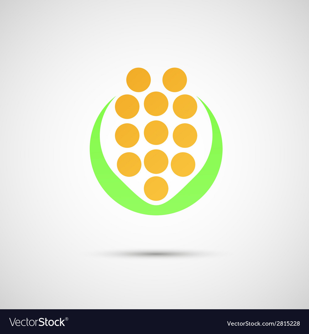 Creative icon of corn on a simple background vector | Price: 1 Credit (USD $1)
