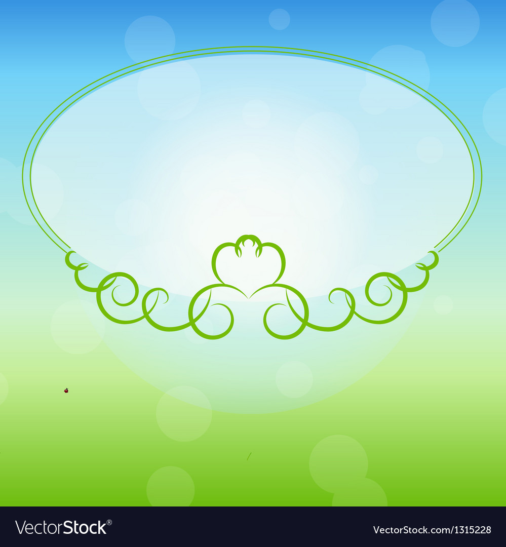 Freen frame on nature background vector | Price: 1 Credit (USD $1)