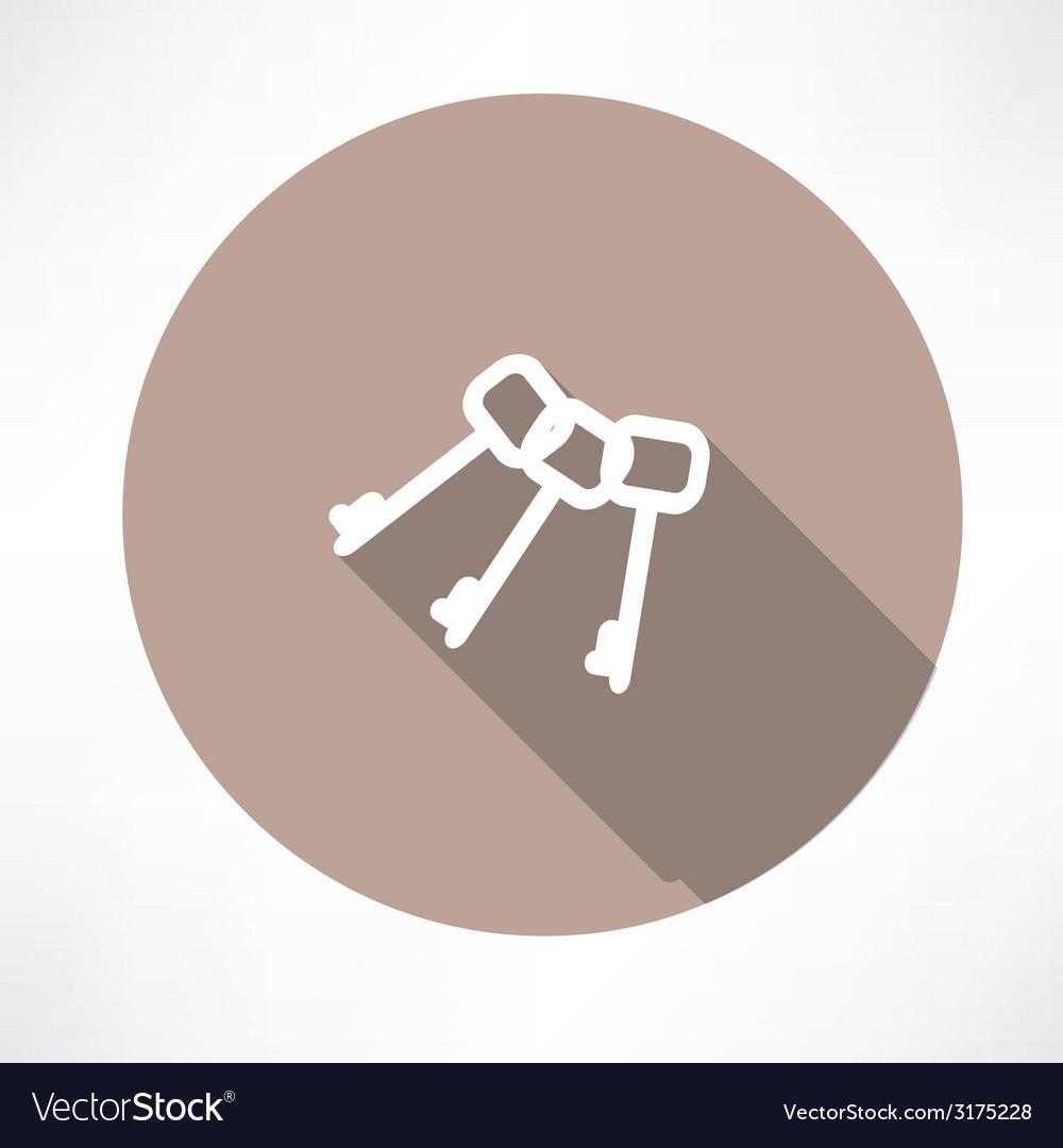 Keys icon vector | Price: 1 Credit (USD $1)