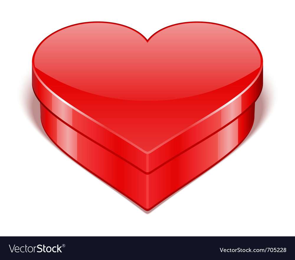 Red shiny heart gift present vector | Price: 1 Credit (USD $1)