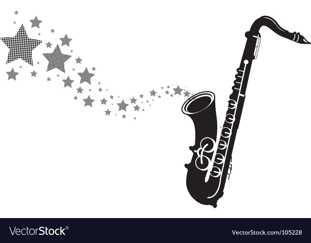 Saxophone stars vector | Price: 1 Credit (USD $1)