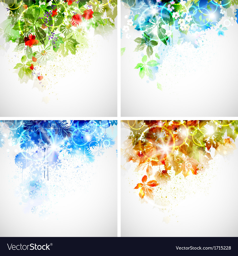 Seasons vector | Price: 1 Credit (USD $1)