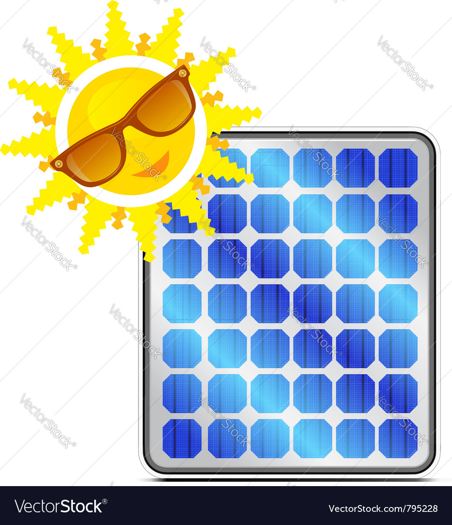 Solar power panel vector | Price: 1 Credit (USD $1)