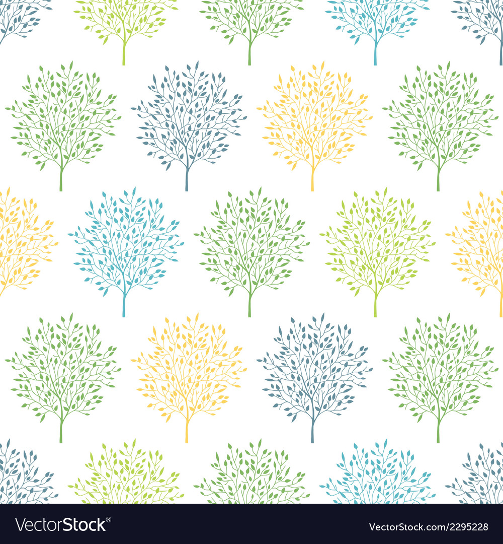 Summer trees colorful seamless pattern background vector | Price: 1 Credit (USD $1)