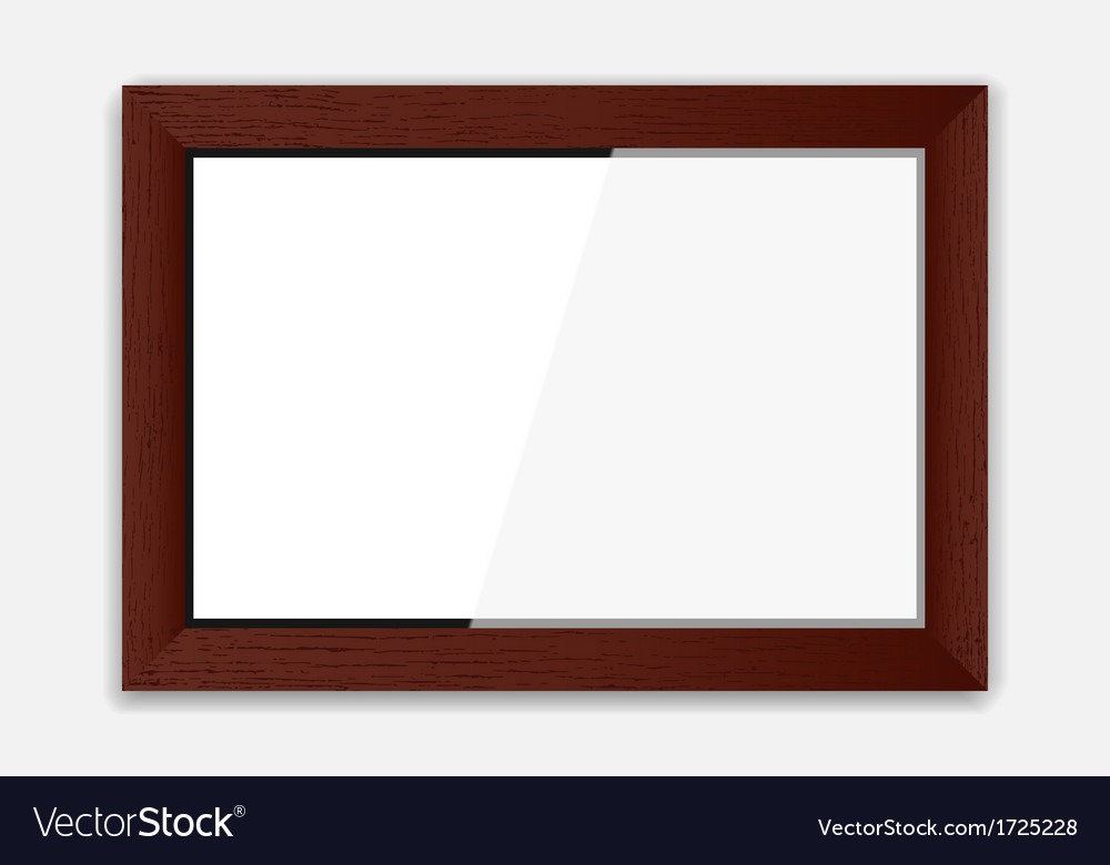 Wooden photoframe vector | Price: 1 Credit (USD $1)