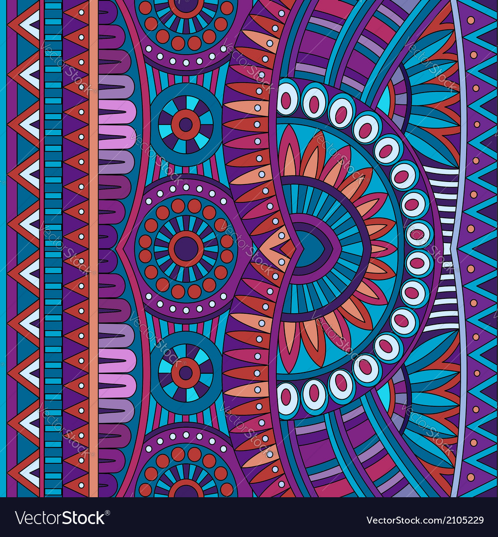 Abstract tribal ethnic background seamless vector | Price: 1 Credit (USD $1)