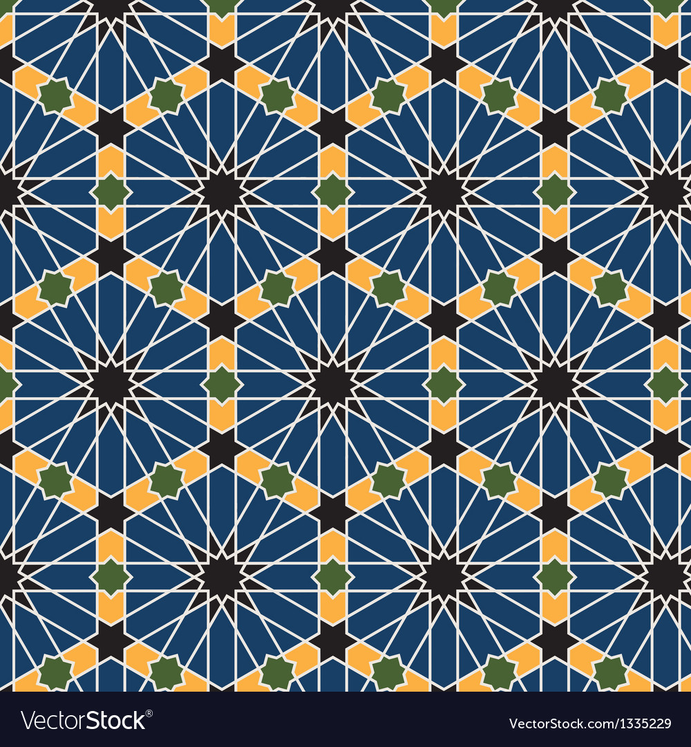 Arabic seamless pattern vector | Price: 1 Credit (USD $1)