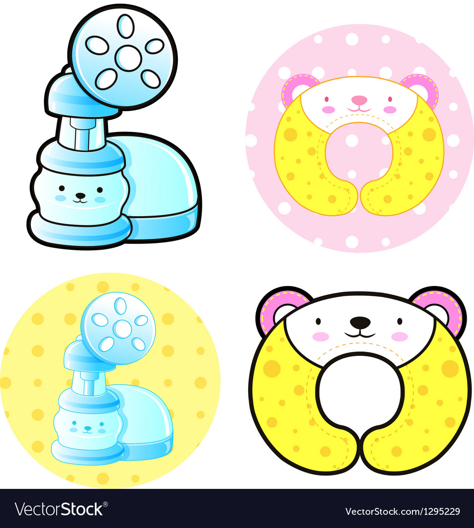 Diverse styles of breast pump and lactation cushio vector | Price: 1 Credit (USD $1)
