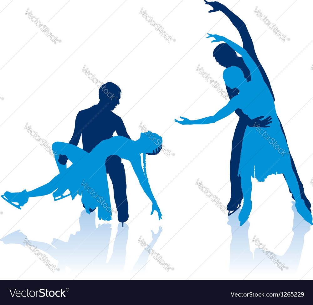 Figure skaters silhouettes vector   Price: 1 Credit (USD $1)