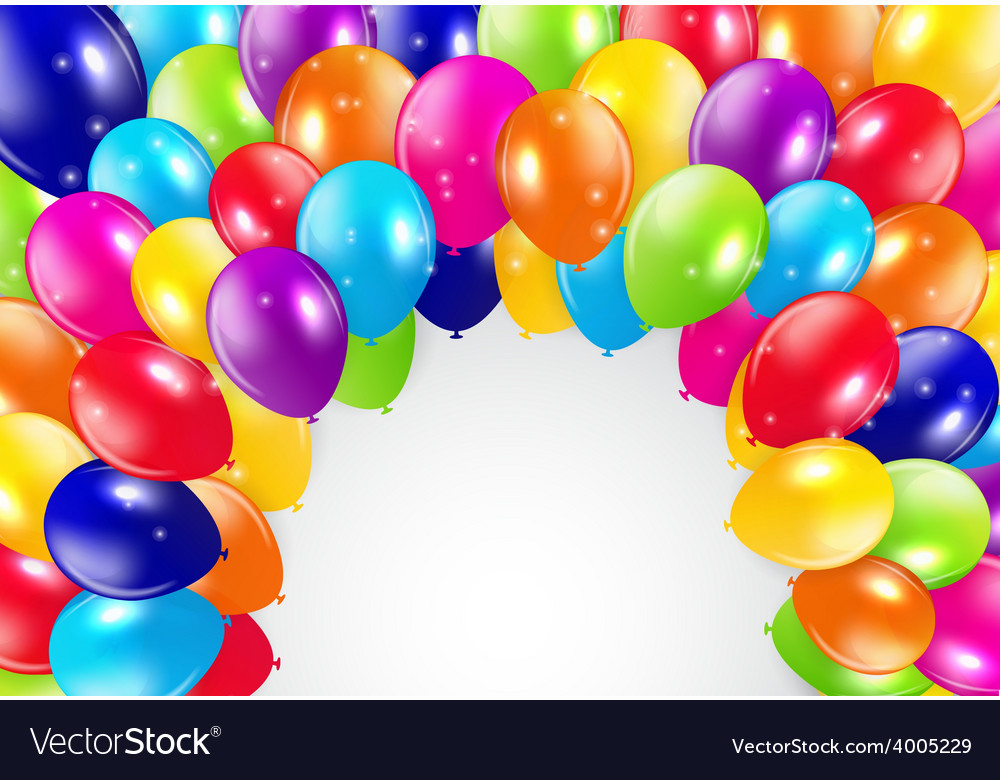 Glossy balloons background vector | Price: 1 Credit (USD $1)