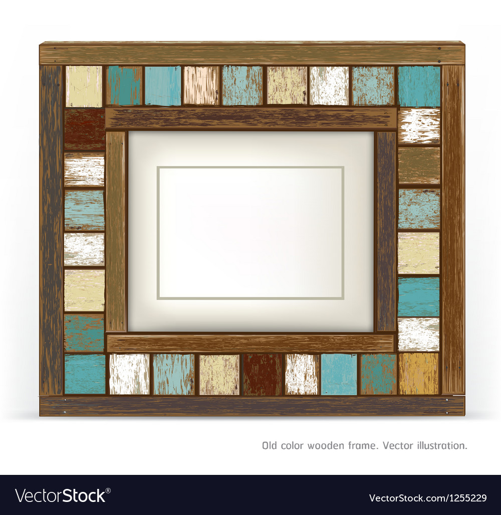 Old vintage wood frame vector | Price: 1 Credit (USD $1)
