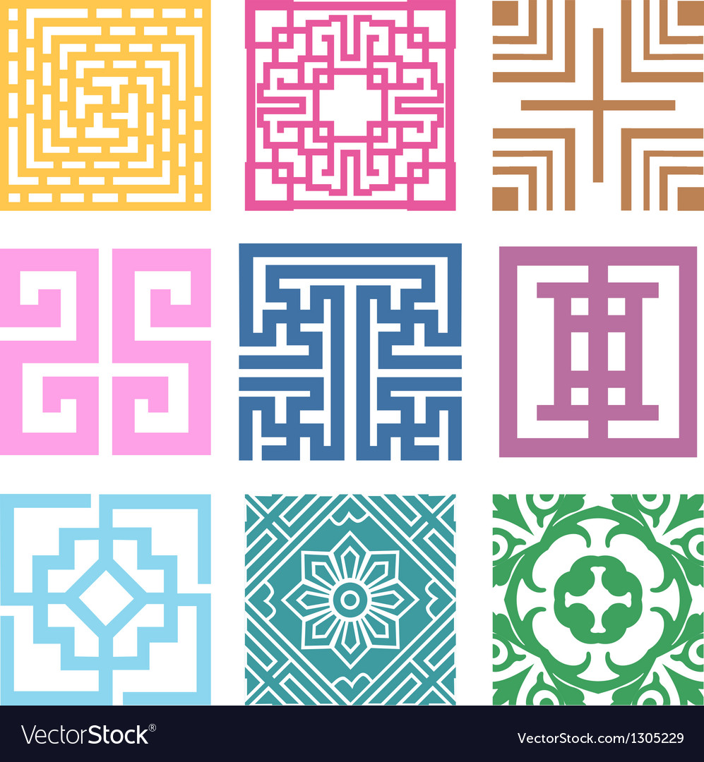 Plaid symbol sets geometric pattern design vector | Price: 1 Credit (USD $1)