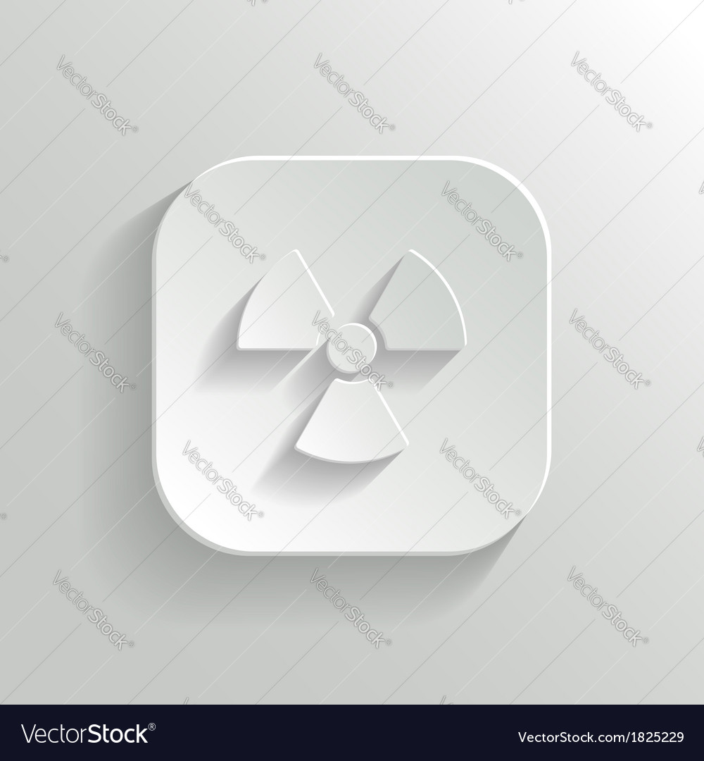 Radioaktivity icon - white app button vector | Price: 1 Credit (USD $1)