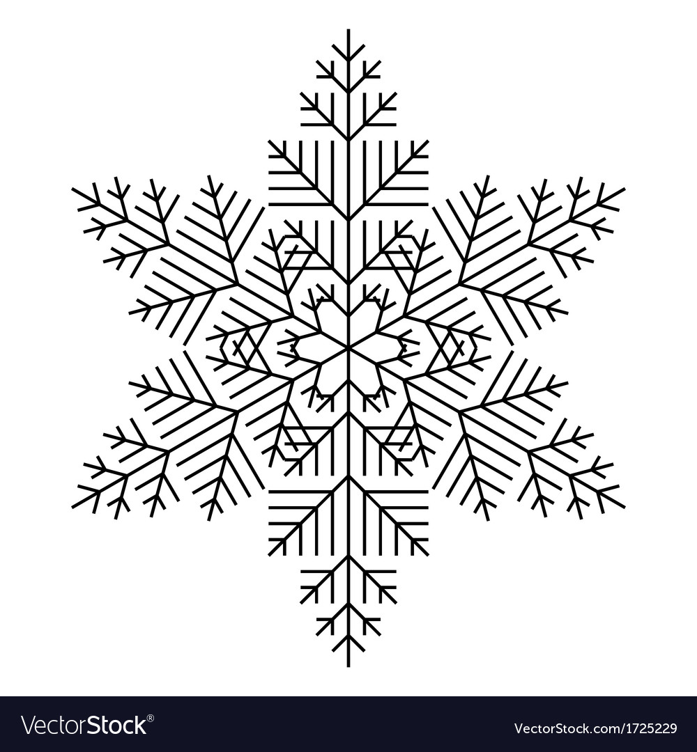 Simple snowflake vector | Price: 1 Credit (USD $1)
