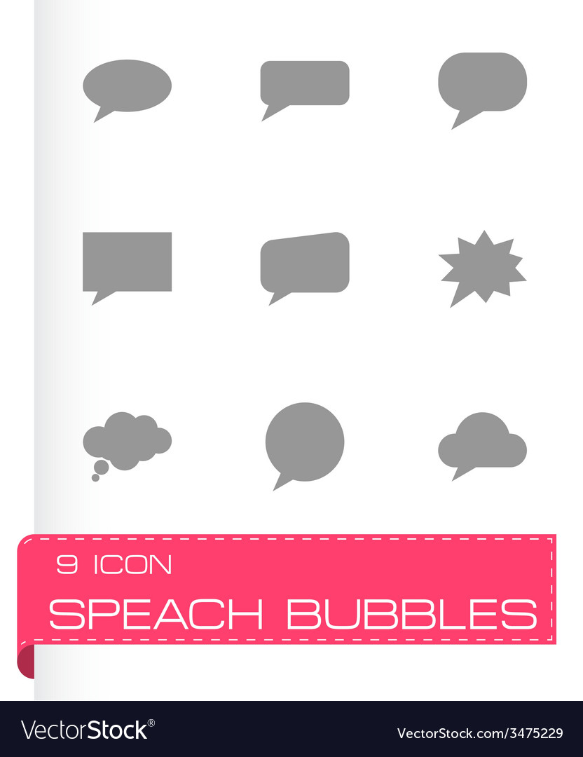 Speach bubbles icon set vector | Price: 1 Credit (USD $1)
