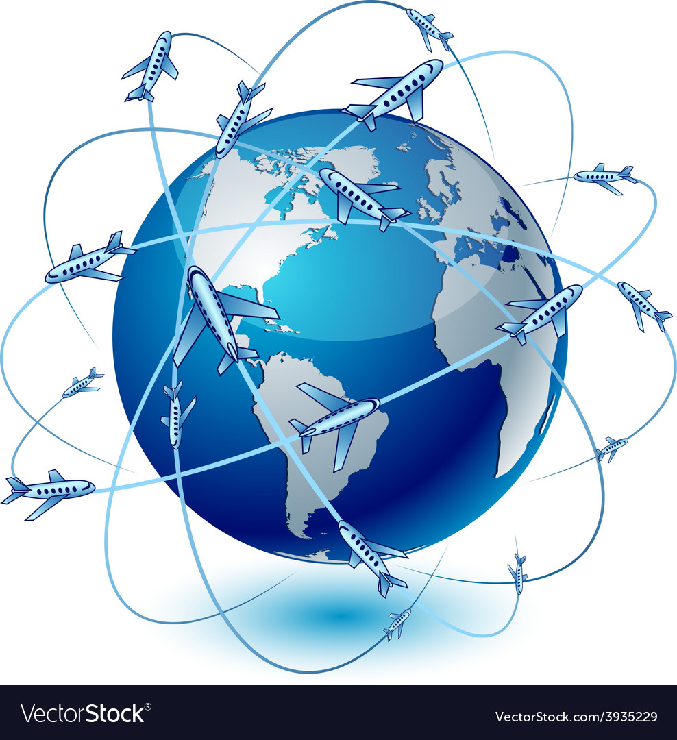Transportation earth - america vector | Price: 1 Credit (USD $1)