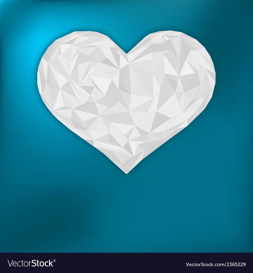 Valentine heart from paper eps 8 vector | Price: 1 Credit (USD $1)