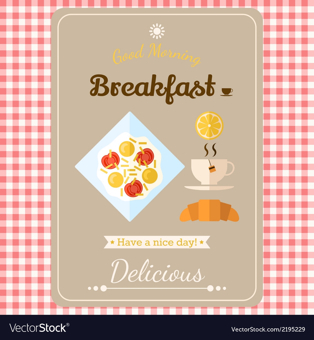 With labels breakfast vector | Price: 1 Credit (USD $1)