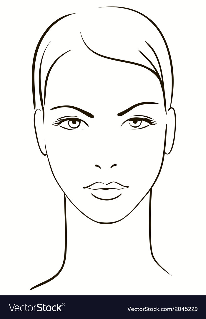 Young woman face vector | Price: 1 Credit (USD $1)