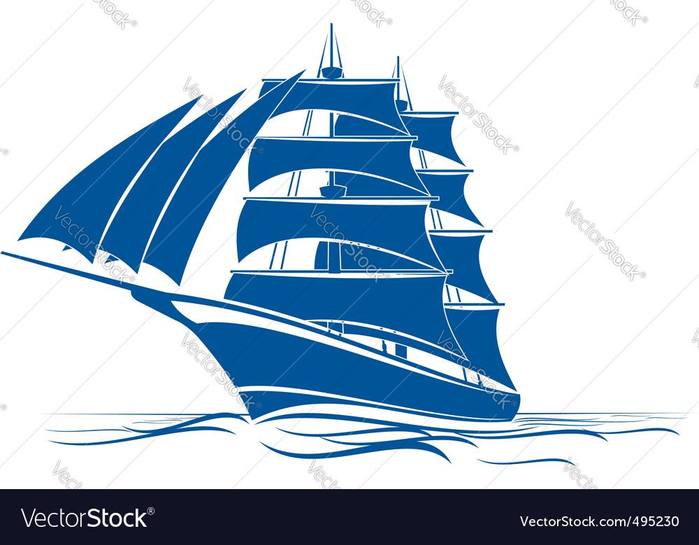 Brigantine ship vector | Price: 1 Credit (USD $1)
