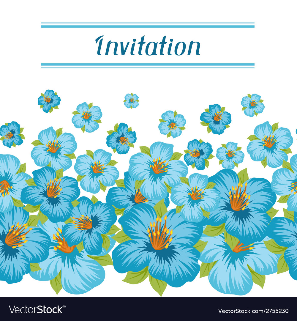 Design of invitation card with pretty stylized vector   Price: 1 Credit (USD $1)