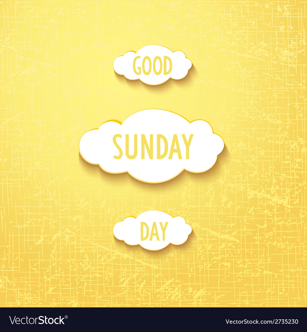 Good sunday day vector | Price: 1 Credit (USD $1)