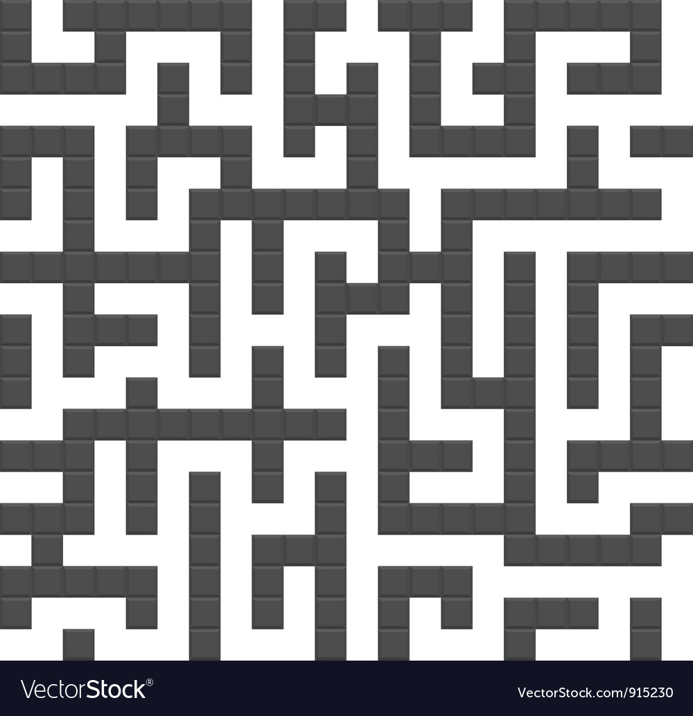 Infinite maze seamless background pattern vector | Price: 1 Credit (USD $1)