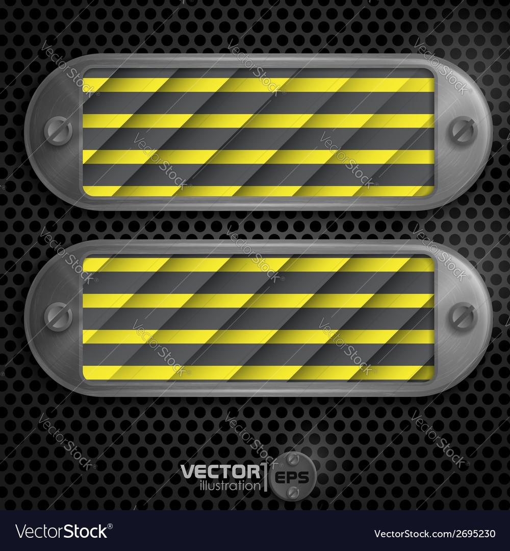 Metallic frame with screws vector | Price: 1 Credit (USD $1)