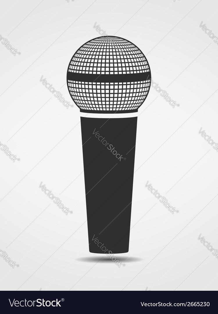 Microphone silhouette vector | Price: 1 Credit (USD $1)