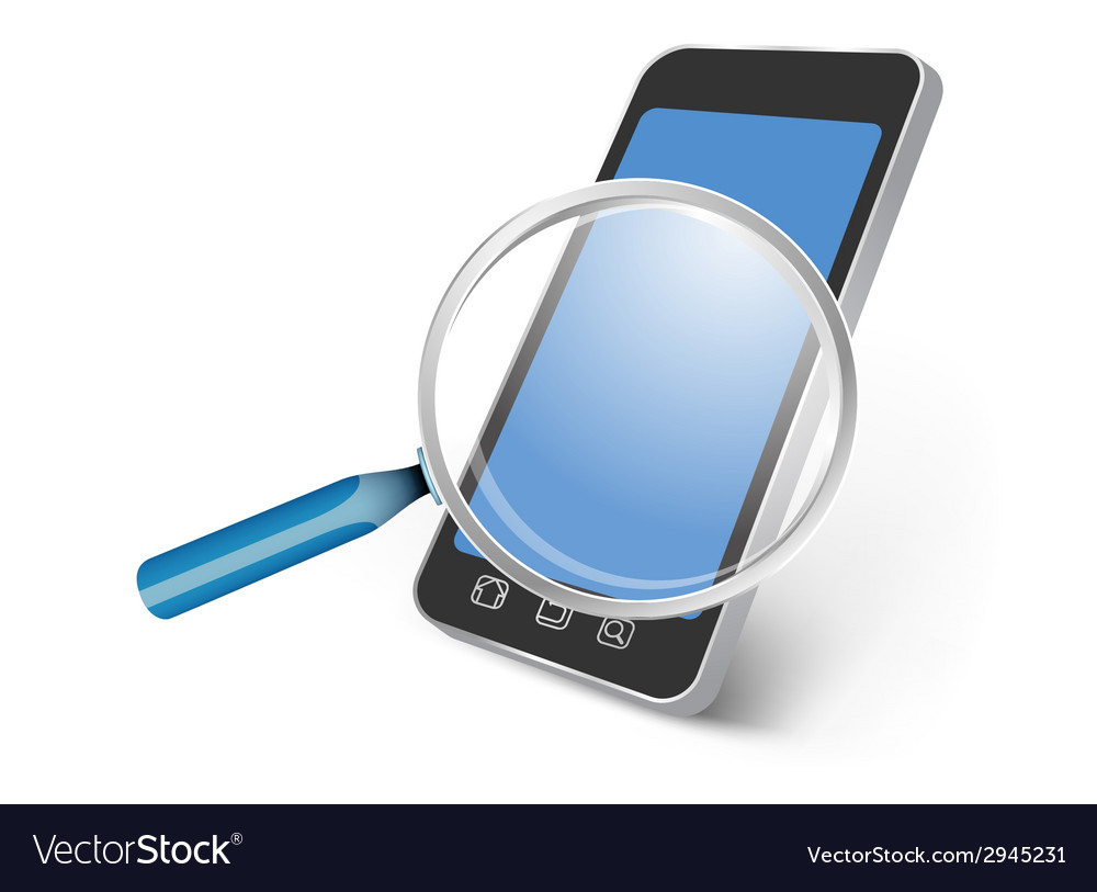 All smartphone device searching vector | Price: 1 Credit (USD $1)