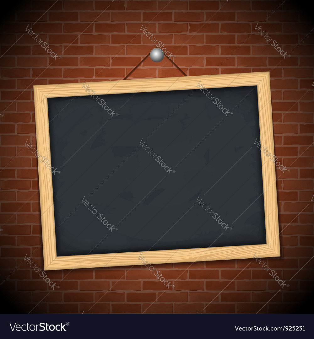 Blackboard on brick wall vector | Price: 3 Credit (USD $3)